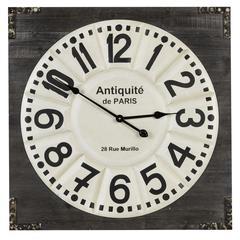 Talbert Clock, Distressed Dark Wood Finish