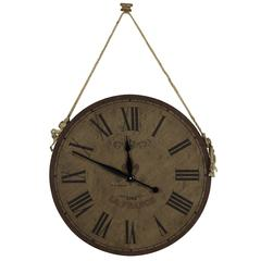 Jaybrook Clock, Natural Burlap FInish