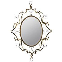 Cooper Classics Carter Mirror, Antique Gold Finish, Beveled Mirror