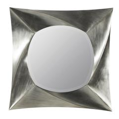 Cooper Classics Hurley Mirror, Brushed Silver Finish, Beveled Mirror