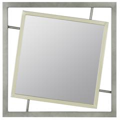 Connor Mirror, Antique Silver and Zinc Finish