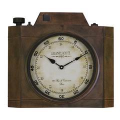 Valerian Clock, Aged Bronze Finish, Under Glass