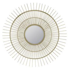 Marcade Mirror, Muted Gold Metal Finish, Beveled Mirror