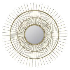 Cooper Classics Marcade Mirror, Muted Gold Metal Finish, Beveled Mirror