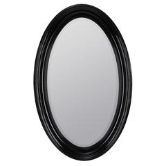 Kincourt Mirror, Glossy Black Finish, Beveled Mirror