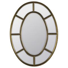 Cooper Classics Elgin Mirror, Antique Gold Finish with Aged Red Understones