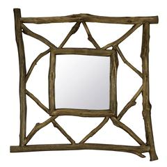 Westin Mirror, Natural Rustic Wood Finish, Size will vary slightly due to stick sizes used