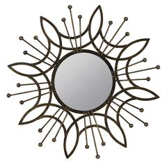 Krishna Mirror, Aged Copper Finish