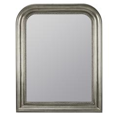 Cooper Classics Kwango Mirror, Antique Silver Finish with Black Undertones