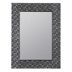 Hasburg Mirror, Blue and Black Cloth Finish