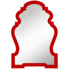 Cooper Classics Faith Mirror, Glossy Red Finish