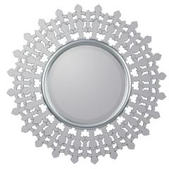 Cooper Classics Feye Mirror, Mirrored Frame with Silver Finished Lining, Beveled Mirror