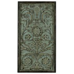 Penn Wall Hanging, Aged Turquoise Finish with Gold and Black Undertones, Finish Will Vary