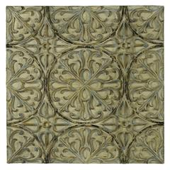 Lalasa Wall Hanging, Aged Cream Finish with Pale Blue, Gold and Black Undertones, Finish Will Vary