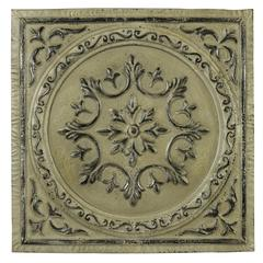 Cooper Classics Laleh Wall Hanging, Aged Cream Finish with Black and Silver Highlights