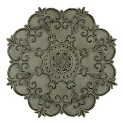 Cooper Classics Luke Wall Hanging, Aged Cream Finish with Black and Silver Highlights