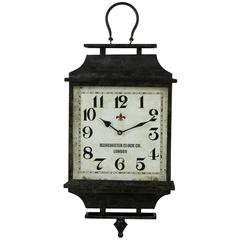 Cooper Classics Kimmel Clock, Aged Dark Gray Finish with Aged Rust Undertones, Under Glass