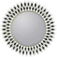 Cooper Classics Warner Mirror, Silver Finish, Beveled Mirror