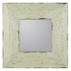 Cooper Classics Arliss Mirror, Cream Finish with Natural Wood Distressing, Beveled Mirror