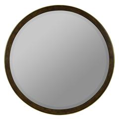 Cooper Classics Daniel Mirror, Medium Brown Finish with Gold Highlights, Beveled Mirror