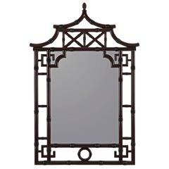 Maya Mirror, Mahogany Finish