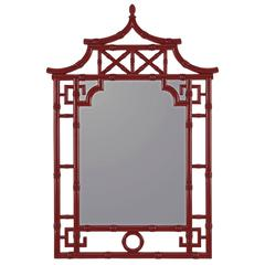 Cooper Classics Lilly Mirror, Glossy Red Finish