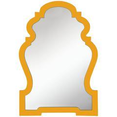 Bentley Mirror, Glossy Osage Orange Finish