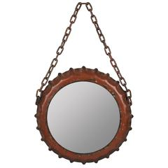 Emerson Mirror, Aged Red Finish