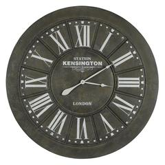 Capen Clock, Black Crackle Finish with Brown Undertones