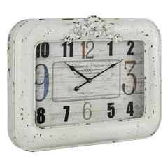 Cooper Classics Blanco Clock, Cream Finish with Black Undertones, Under Glass
