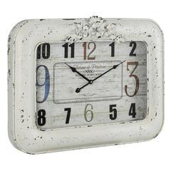 Blanco Clock, Cream Finish with Black Undertones, Under Glass