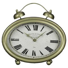 Cooper Classics Welsley Table Clock, Gold Finish, Under Glass