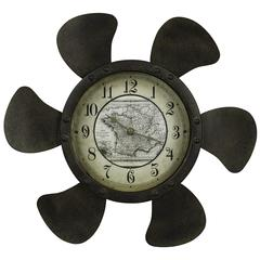 Landon Clock, Rust Finish, Under Glass