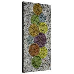Cooper Classics Utica Wall Hanging, Textured Recycled Newspaper Finish