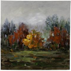 Cooper Classics Fall Forest I, Hand Painted, Textural Paint on Canvas