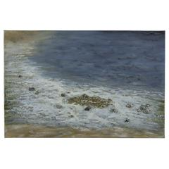 Cooper Classics Pebbled Beach, Hand Painted High Gloss with Pebble Embellishments on Canvas