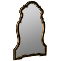 Quenby Mirror, Black and Antique Gold Finish