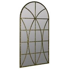 Jarmo Mirror, Aged Gold and Black Metal Finish