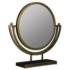 Ketill Table Mirror, Bronze Finish with Black Highlights