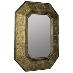 Cooper Classics Tenoch Mirror, Natural Tree Bark Finish with Gold Accents, Finish will vary