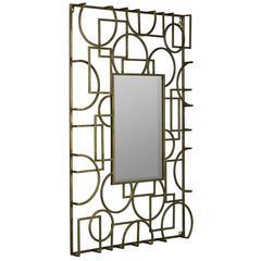 Cooper Classics Kami Mirror, Antique Gold Metal Finish, Beveled Mirror