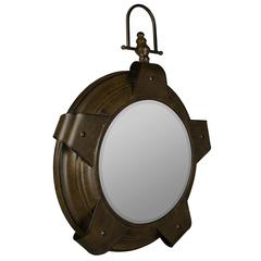 Cooper Classics Lolek Mirror, Aged Copper Finish, Beveled Mirror