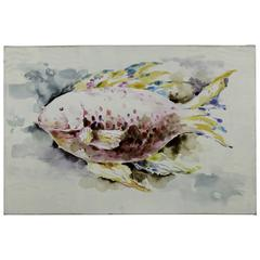 Cooper Classics Red Fish, Hand Painted on Canvas