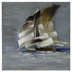 Cooper Classics Sail Boat I, Hand Painted, Textural Paint on Canvas