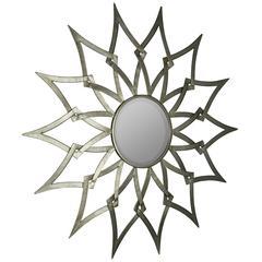 Ronnie Mirror, Silver Finish, Beveled Mirror