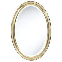 Blake Oval Mirror, Aged Gold Finish, beveled mirror