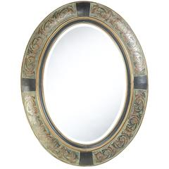 Sawyer Mirror, Aged Verdigris Finish, Beveled Mirror