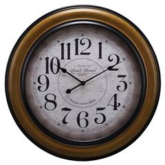 Cooper Classics Payton Clock, Chestnut Finish with Black Borders, Under Glass