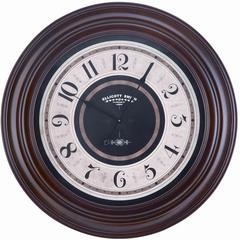 Pearce Clock, Mahogany Finish, Under Glass