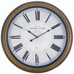 Henley Clock, Toffee Finish, Under Glass